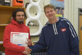 HVAC student with his teacher.