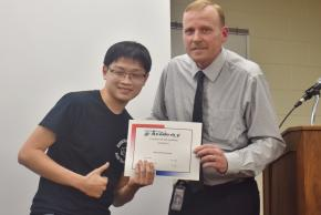 An award recipient for Automotive Technology for quarter four.