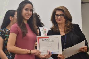 An award recipient for Cosmetology for quarter four.
