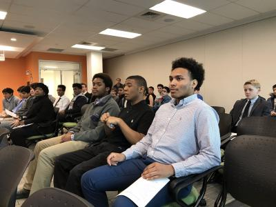 Some of the Edison Academy IT students visiting NIST