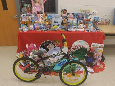 Toys from the Criminal Justice toy drive